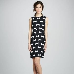 Kate Spade All Wrapped Up Bow Print Cora Dress 6